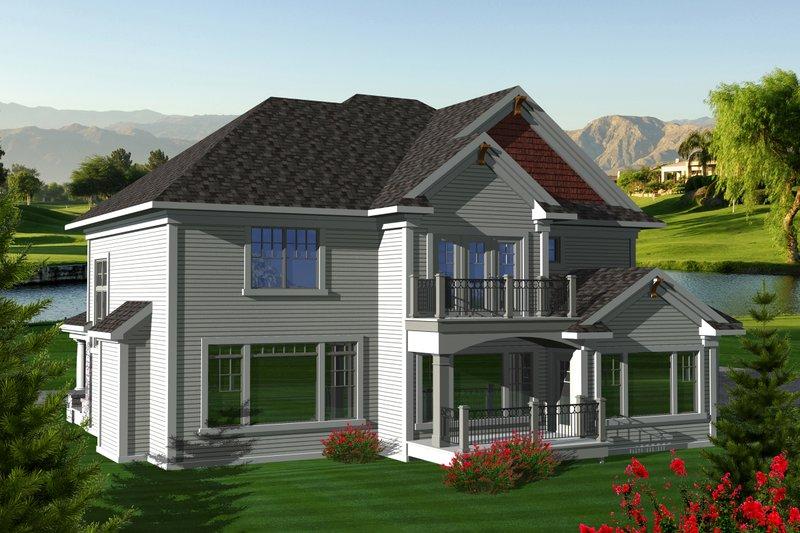 Craftsman Exterior - Rear Elevation Plan #70-1125 - Houseplans.com