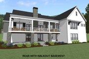 Country Style House Plan - 3 Beds 3 Baths 2593 Sq/Ft Plan #1069-3 Exterior - Rear Elevation