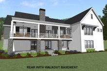 Country Exterior - Rear Elevation Plan #1069-3