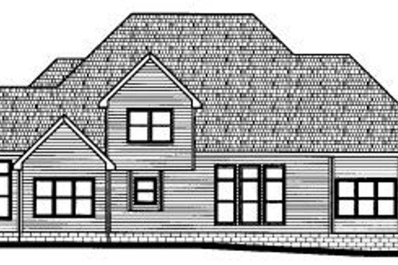 Traditional Exterior - Rear Elevation Plan #20-1129 - Houseplans.com
