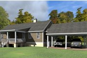 Cottage Style House Plan - 3 Beds 2 Baths 2342 Sq/Ft Plan #63-399 Exterior - Rear Elevation