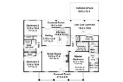 Ranch Style House Plan - 3 Beds 2 Baths 1476 Sq/Ft Plan #21-450 Floor Plan - Main Floor Plan