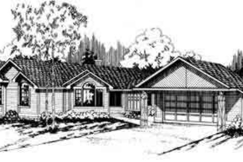 Ranch Exterior - Front Elevation Plan #124-120