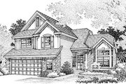 Traditional Style House Plan - 4 Beds 3 Baths 2251 Sq/Ft Plan #50-178 Exterior - Front Elevation