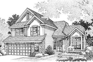 Traditional Exterior - Front Elevation Plan #50-178