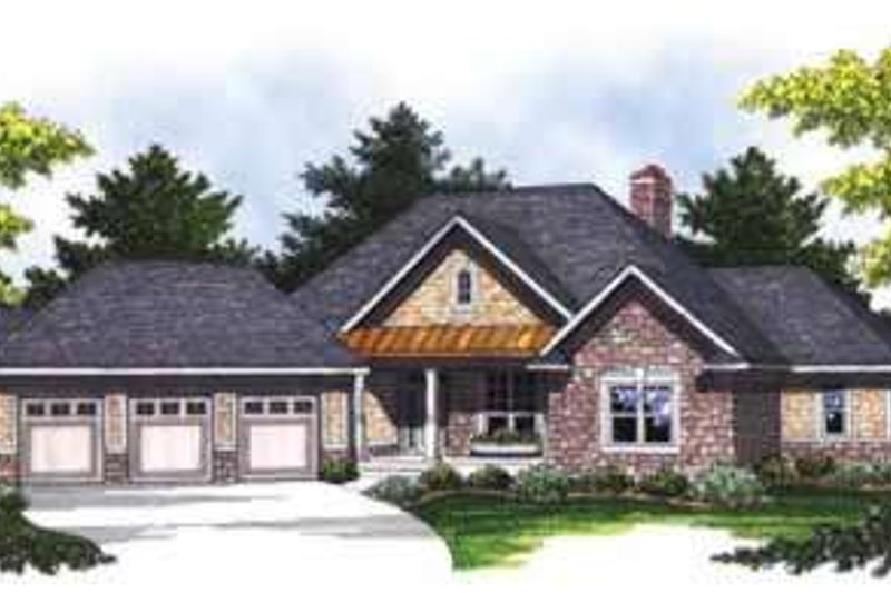 Traditional Exterior - Front Elevation Plan #70-844 - Houseplans.com