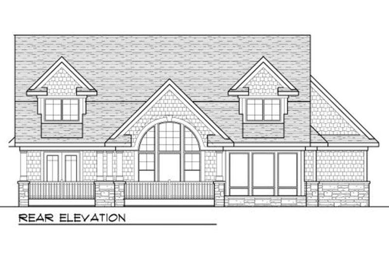 Craftsman Exterior - Rear Elevation Plan #70-995 - Houseplans.com