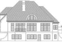 Southern Exterior - Rear Elevation Plan #119-222