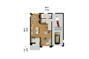 Contemporary Style House Plan - 3 Beds 1.5 Baths 1459 Sq/Ft Plan #25-4881