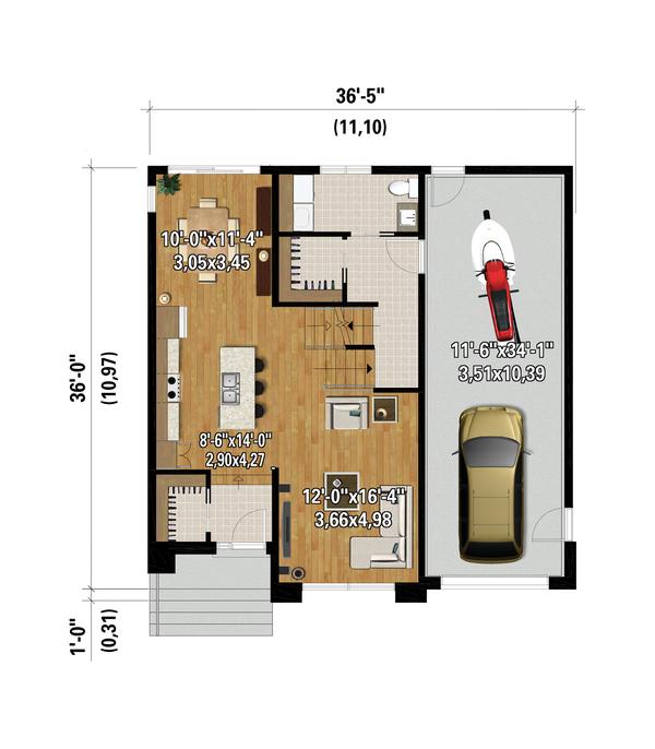 House Plan Design - Contemporary Floor Plan - Main Floor Plan #25-4881