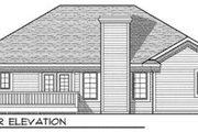 Ranch Style House Plan - 3 Beds 2 Baths 1495 Sq/Ft Plan #70-678 Exterior - Rear Elevation