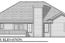 Ranch Exterior - Rear Elevation Plan #70-678