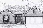 Traditional Style House Plan - 3 Beds 2 Baths 1239 Sq/Ft Plan #310-887 Exterior - Front Elevation