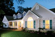 Country Style House Plan - 3 Beds 2 Baths 1721 Sq/Ft Plan #57-131 Exterior - Front Elevation