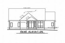 Craftsman Exterior - Rear Elevation Plan #20-2329