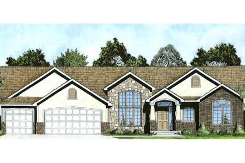 Traditional Exterior - Front Elevation Plan #58-199