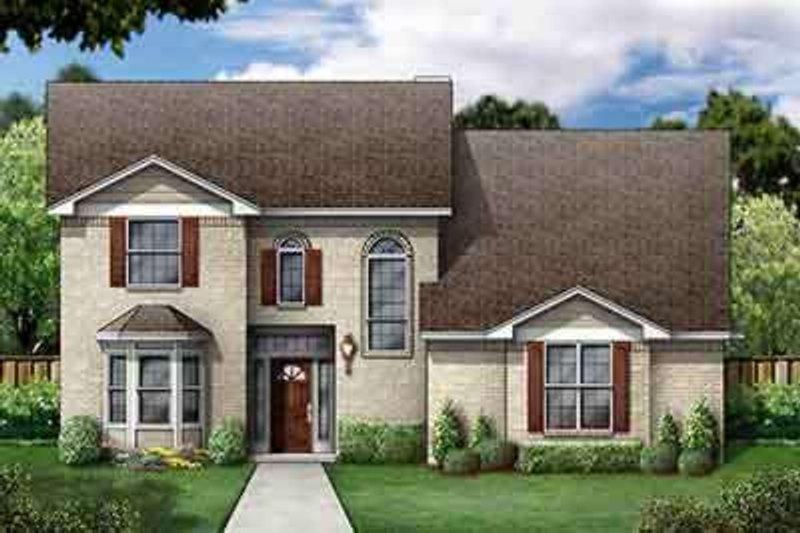 Home Plan - European Exterior - Front Elevation Plan #84-236