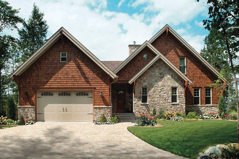Craftsman Exterior - Front Elevation Plan #23-419 - Houseplans.com