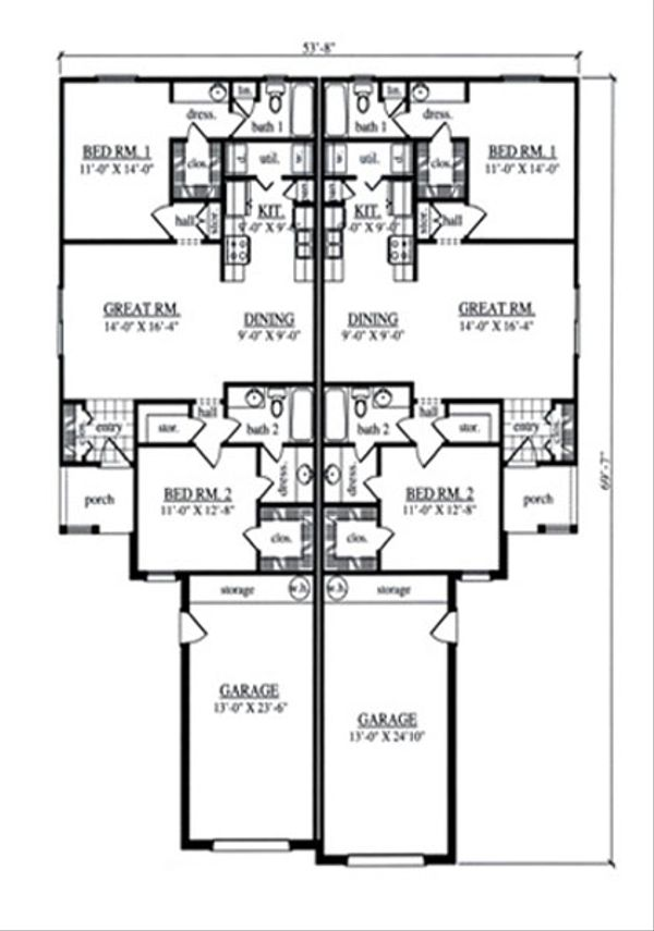 Country Floor Plan - Main Floor Plan Plan #42-376