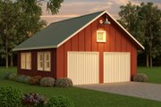 Farmhouse Style House Plan - 0 Beds 0 Baths 676 Sq/Ft Plan #888-19 Exterior - Front Elevation