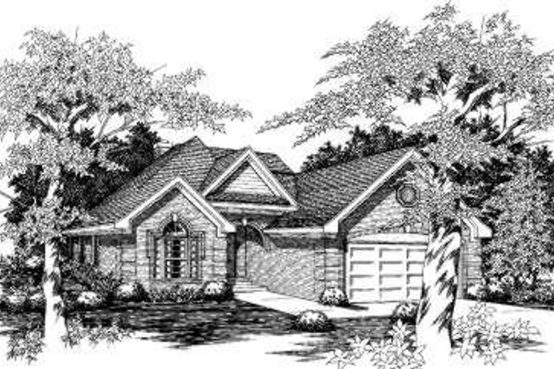 Traditional Style House Plan - 3 Beds 2 Baths 1995 Sq/Ft Plan #329-112 Exterior - Front Elevation