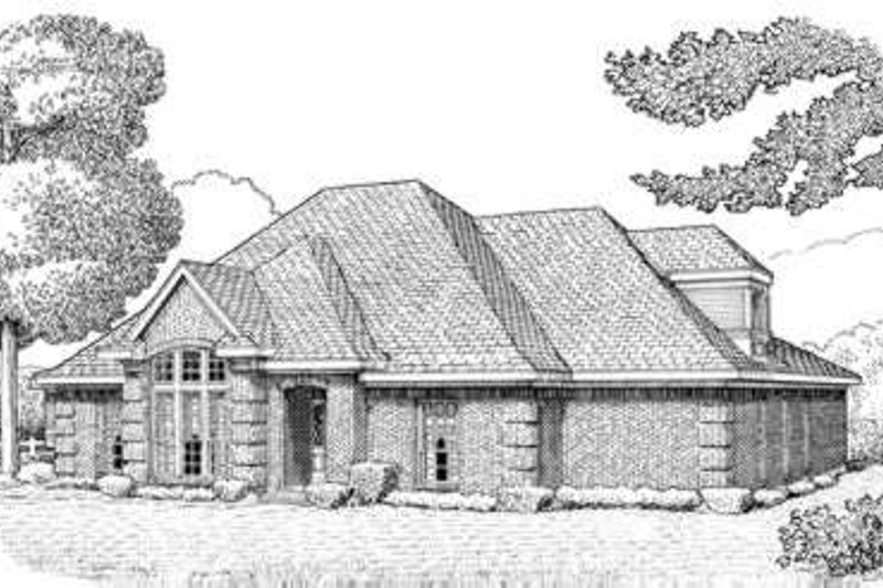 European Exterior - Front Elevation Plan #410-357