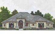 Mediterranean Style House Plan - 4 Beds 3.5 Baths 2621 Sq/Ft Plan #310-979
