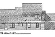 Traditional Style House Plan - 4 Beds 2.5 Baths 2024 Sq/Ft Plan #70-284 Exterior - Rear Elevation