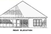 Traditional Style House Plan - 3 Beds 2 Baths 1806 Sq/Ft Plan #17-2275 Exterior - Rear Elevation
