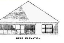Dream House Plan - Traditional Exterior - Rear Elevation Plan #17-2275