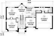 Contemporary Style House Plan - 3 Beds 2 Baths 2558 Sq/Ft Plan #25-4625 Floor Plan - Main Floor Plan