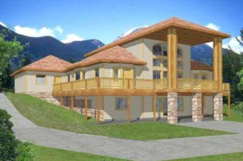 Modern Exterior - Front Elevation Plan #117-384 - Houseplans.com