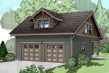 Dream House Plan - Craftsman Exterior - Front Elevation Plan #124-635