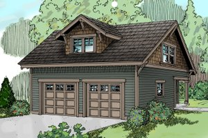 Architectural House Design - Craftsman Exterior - Front Elevation Plan #124-635