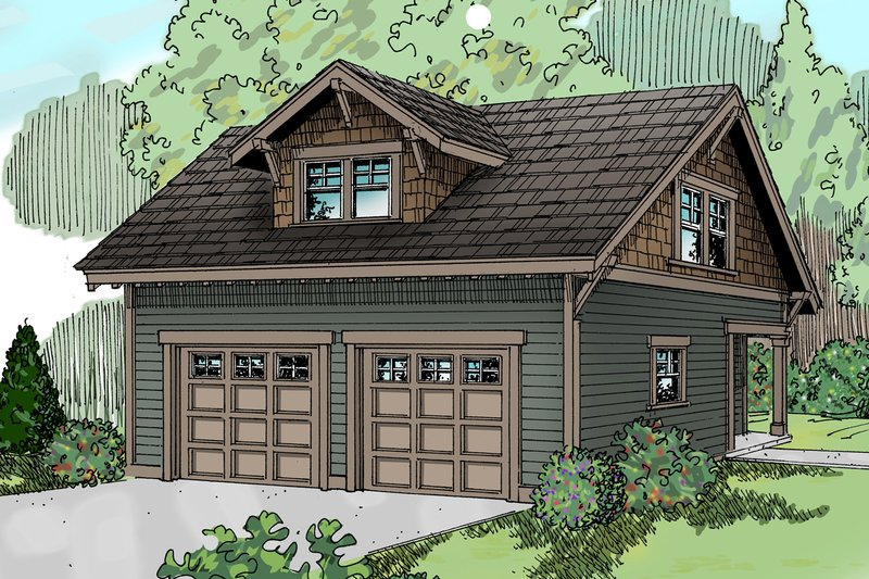 Craftsman Exterior - Front Elevation Plan #124-635