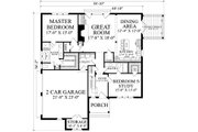 Cottage Style House Plan - 5 Beds 4 Baths 2673 Sq/Ft Plan #137-289 Floor Plan - Main Floor Plan