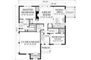 Cottage Style House Plan - 5 Beds 4 Baths 2673 Sq/Ft Plan #137-289 Floor Plan - Main Floor