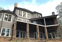 House Plan Design - Traditional Exterior - Rear Elevation Plan #437-86