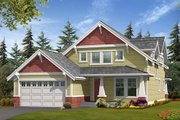 Craftsman Style House Plan - 3 Beds 2.5 Baths 2377 Sq/Ft Plan #132-187 Exterior - Front Elevation