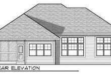 Dream House Plan - Craftsman Exterior - Rear Elevation Plan #70-723