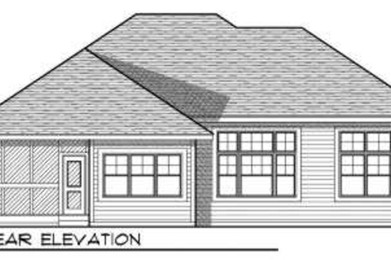 Craftsman Exterior - Rear Elevation Plan #70-723 - Houseplans.com