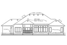 Home Plan - Traditional Exterior - Rear Elevation Plan #20-2120