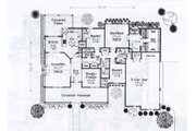 Traditional Style House Plan - 3 Beds 2.5 Baths 2144 Sq/Ft Plan #310-929 Floor Plan - Main Floor