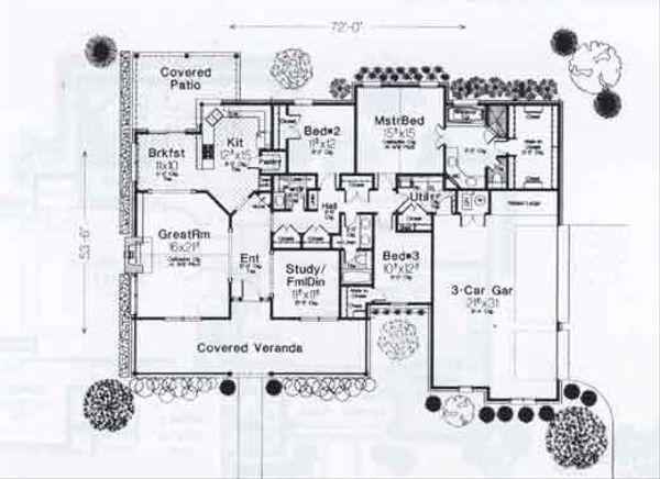 Traditional Floor Plan - Main Floor Plan #310-929