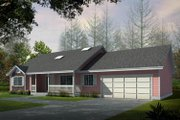 Ranch Style House Plan - 2 Beds 2 Baths 1636 Sq/Ft Plan #100-442 Exterior - Front Elevation
