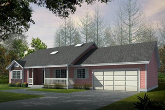 Ranch Exterior - Front Elevation Plan #100-442