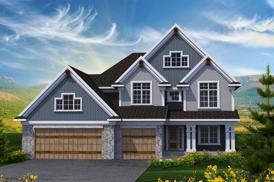 Craftsman Exterior - Front Elevation Plan #70-1231