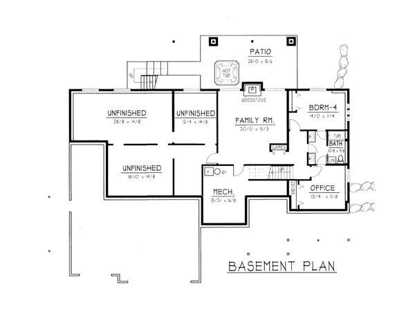 Farmhouse Floor Plan - Lower Floor Plan #112-167