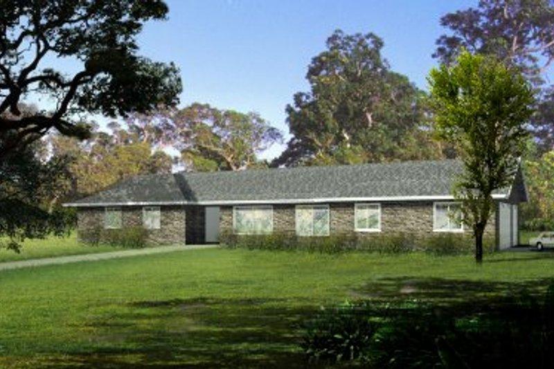 Adobe / Southwestern Style House Plan - 4 Beds 2 Baths 2194 Sq/Ft Plan #1-495