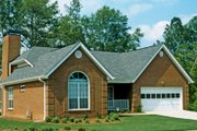 Traditional Style House Plan - 3 Beds 2 Baths 1860 Sq/Ft Plan #30-160 Exterior - Front Elevation
